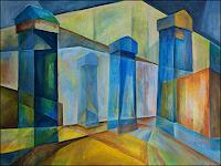 Udo-Greiner-Landschaft-Bauten-Moderne-Expressionismus