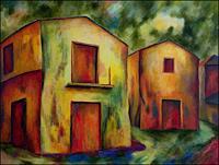 Udo-Greiner-Landschaft-Bauten-Haus-Moderne-Expressionismus
