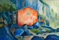 Udo-Greiner-Landschaft-Landschaft-Berge-Moderne-expressiver-Realismus