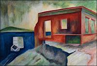 Udo-Greiner-Landschaft-Landschaft-See-Meer-Moderne-expressiver-Realismus