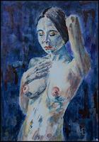 Udo-Greiner-Akt-Erotik-Akt-Frau-Menschen-Frau-Moderne-expressiver-Realismus