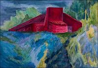 Udo-Greiner-Landschaft-Bauten-Haus-Moderne-Expressionismus-Neo-Expressionismus