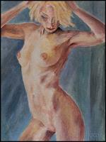 Udo-Greiner-Menschen-Akt-Erotik-Akt-Frau-Moderne-expressiver-Realismus