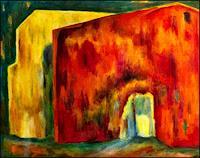 Udo-Greiner-Bauten-Abstraktes-Moderne-expressiver-Realismus