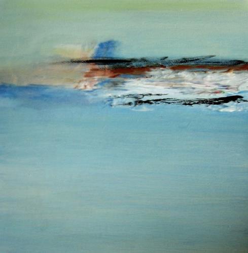 Karin Kraus, Sandbank, Abstraktes, Abstrakte Kunst
