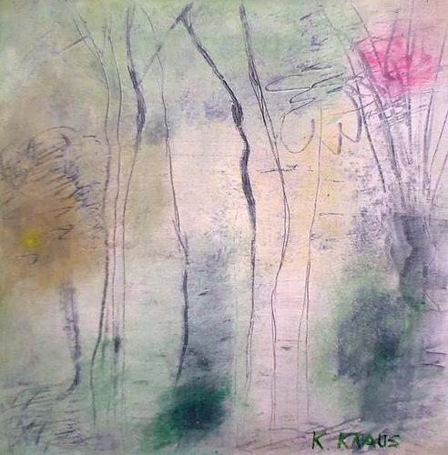 Karin Kraus, Waldlichtung, Landschaft, Abstrakte Kunst