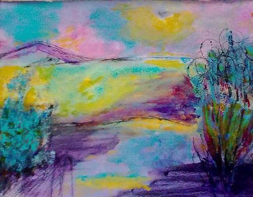 Karin Kraus, Frühling im Biosphärenreservat, Landschaft: Frühling, Natur: Diverse, Colour Field Painting