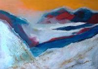 Karin-Kraus-Landschaft-Berge-Moderne-expressiver-Realismus