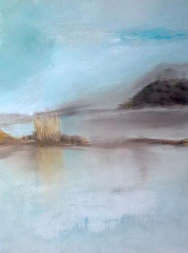 Karin Kraus, Solitude, Landschaft: See/Meer, Diverse Romantik, Gegenwartskunst, Expressionismus