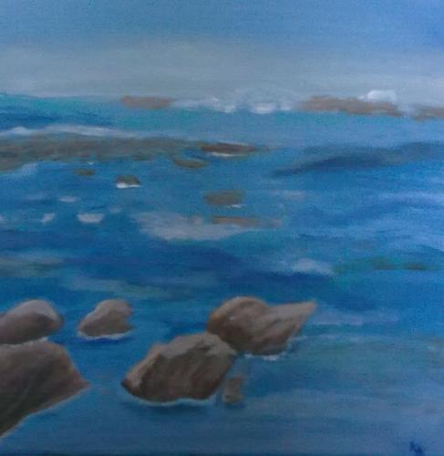 Karin Kraus, Meeresimpressionen, Landschaft: See/Meer, Natur: Wasser, Gegenwartskunst