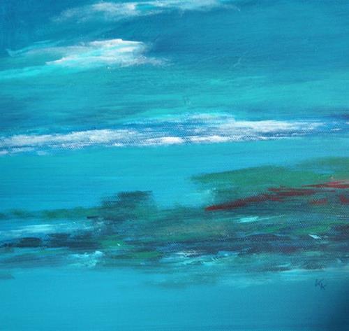 Karin Kraus, Meeresimpressionen II, Landschaft: See/Meer, Natur: Wasser, Gegenwartskunst
