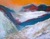 Karin-Kraus-Landschaft-Berge-Natur-Gestein-Moderne-expressiver-Realismus