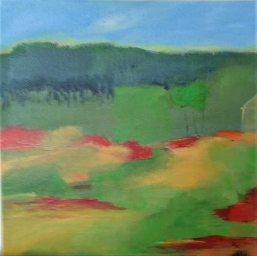 Karin Kraus, Oase 1, Landschaft, Landschaft, Gegenwartskunst