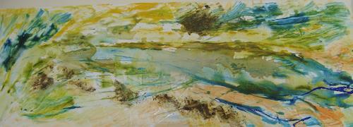Karin Kraus, Wasserspiegel, Landschaft, Landschaft, Gegenwartskunst