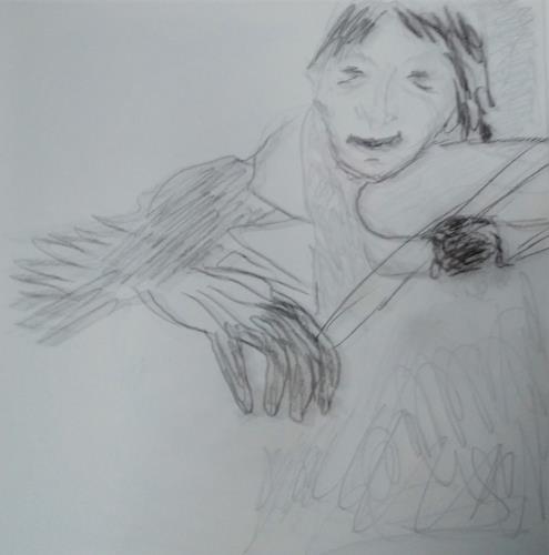 Karin Kraus, Geigenspieler, Menschen, Menschen, expressiver Realismus