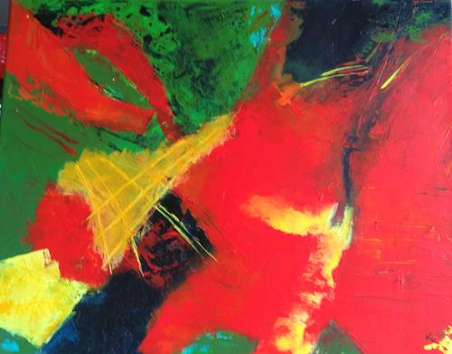 Karin Kraus, Füllhorn, Abstraktes, Fantasie, Abstrakte Kunst, Abstrakter Expressionismus