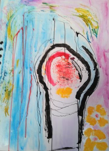 Karin Kraus, Beschützt, Skurril, Abstraktes, Expressionismus