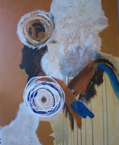 Karin Kraus, OT 2020-2, Skurril, Abstraktes, expressiver Realismus, Abstrakter Expressionismus