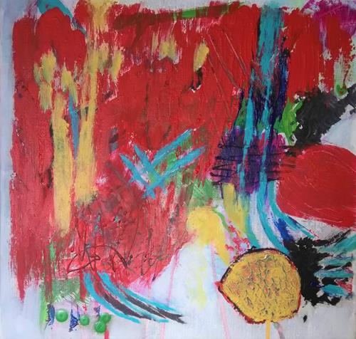 Karin Kraus, OT2020-3, Skurril, Fantasie, Abstrakter Expressionismus