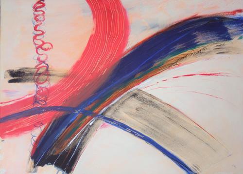Karin Kraus, Getrennte Wege, Landschaft, Abstraktes, Gegenwartskunst