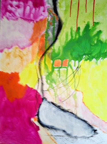 Karin Kraus, Adieu Tristesse, Abstraktes, Fantasie, Abstrakter Expressionismus