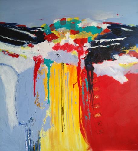 Karin Kraus, o.T.21/6, Abstraktes, Abstraktes, Abstrakte Kunst, Expressionismus