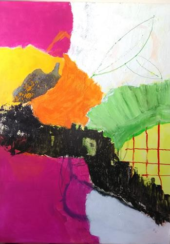 Karin Kraus, o.T.2021/7, Abstraktes, Abstraktes, Abstrakte Kunst