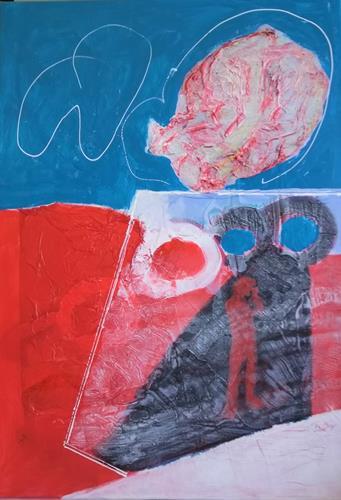 Karin Kraus, Auf der Suche nach der verlorenen Zeit, Skurril, Abstraktes, Abstrakter Expressionismus