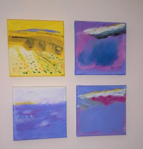 Karin Kraus, Landschaftsbilder, Landschaft, Abstraktes, Abstrakte Kunst