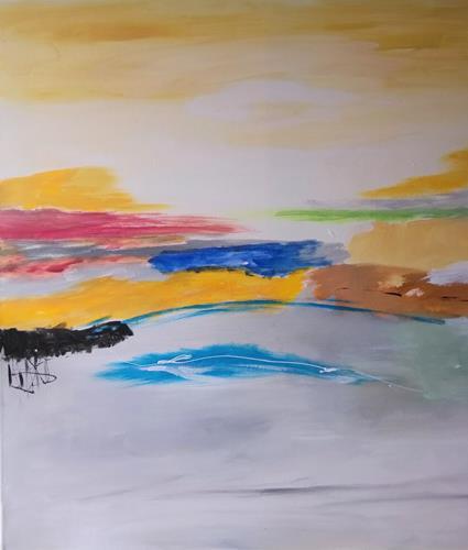Karin Kraus, o.T.2021/10, Landschaft, Abstraktes, Informel