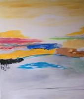 Karin-Kraus-Landschaft-Abstraktes-Moderne-Abstrakte-Kunst-Informel