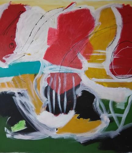 Karin Kraus, Weh dem, der aus der Reihe tanzt, Abstraktes, Fantasie, Neo-Expressionismus, Abstrakter Expressionismus