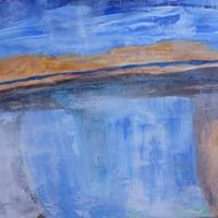 Karin-Kraus-Landschaft-See-Meer-Natur-Wasser-Moderne-Abstrakte-Kunst-Action-Painting