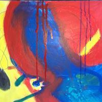 Karin-Kraus-Skurril-Abstraktes-Moderne-Abstrakte-Kunst-Action-Painting