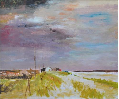 Norbert von Bertoldi, Küstenstück bei Cornwall, Landschaft: See/Meer, Postimpressionismus, Expressionismus