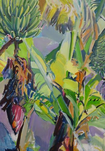 Joan Stephan, Bananenstaude, Pflanzen: Palmen, Natur, Realismus