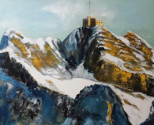 Küver, Säntis, Landschaft, Abstrakte Kunst, Expressionismus