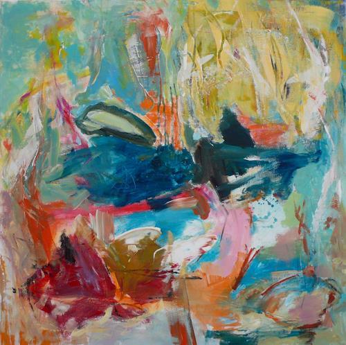 Christel Haag, Breaking Through, Abstraktes, Gegenwartskunst