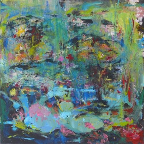 Christel Haag, Hidden Pond, Abstraktes, Gegenwartskunst