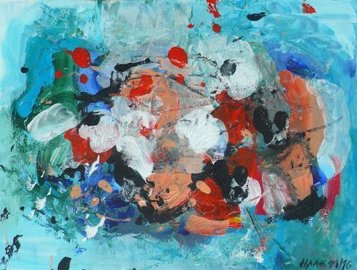 Christel Haag, The Shell, Abstraktes, Natur: Wasser, Gegenwartskunst