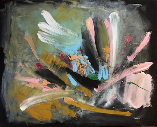 Christel Haag, Dancing in the Dark, Abstraktes, Gegenwartskunst, Abstrakter Expressionismus