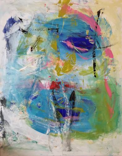 Christel Haag, Island of Dreams, Abstraktes, Gegenwartskunst, Expressionismus