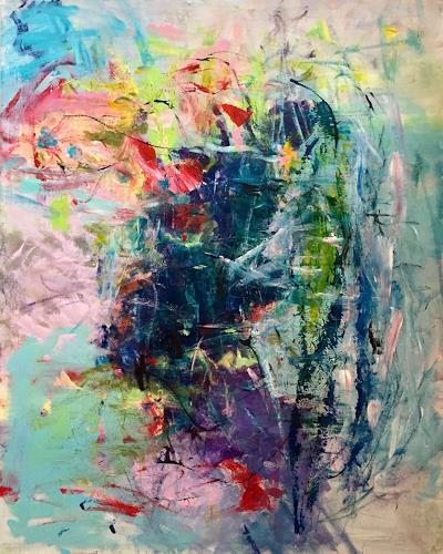 Christel Haag, Like a Dance, Abstraktes, Gegenwartskunst, Abstrakter Expressionismus