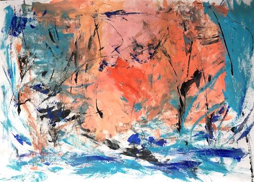 Christel Haag, Wild Water Rafting, Abstraktes, Gegenwartskunst