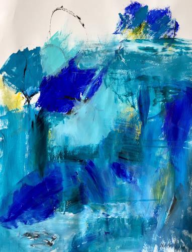 Christel Haag, Rhapsody in Blue and Yellow 2, Abstraktes, Gegenwartskunst