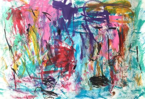 Christel Haag, Rain is Falling, Abstraktes, Gegenwartskunst