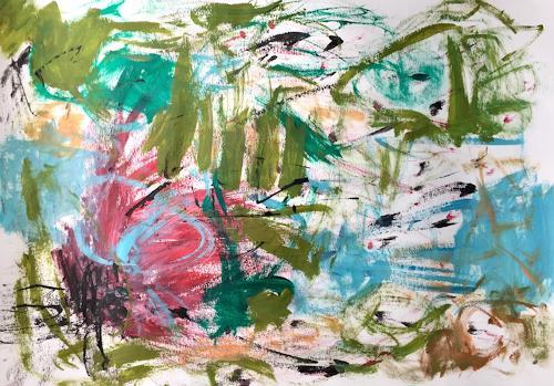 Christel Haag, Island Hopping, Abstraktes, Gegenwartskunst