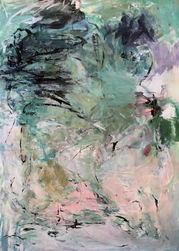 Christel Haag, Mysterious Waterfall, Abstraktes, Gegenwartskunst