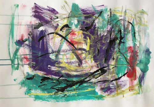 Christel Haag, Secret Lake 2, Abstraktes, Gegenwartskunst
