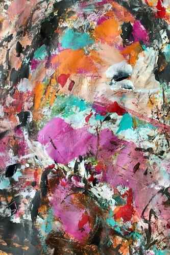 Christel Haag, Spring Flowers 2, Abstraktes, Pflanzen: Blumen, Gegenwartskunst